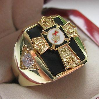 Caballeros templarios pasado comandante crest anillo de cobre masónico