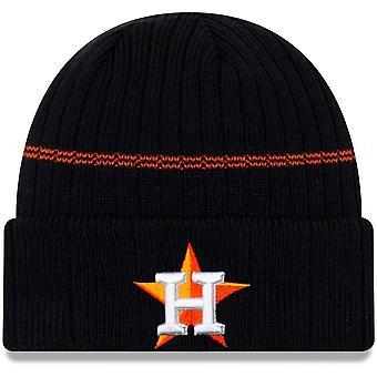 New Era Mlb Houston Astros Primary Logo On-field Sport Cuffed Beanie Knit