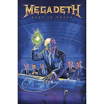 Megadeth Poster Rust In Peace Band Logo new Official 70cm x 106cm Textile Flag