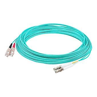 Fiber Optic, Patch Cord- Lc/upc-lc/upc, Duplex Aqua, Jacket Jumper Cable