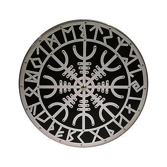Holz/Metall nordischen Helm der Ehrfurcht Wikinger mittelalterlichen Schild SWE56