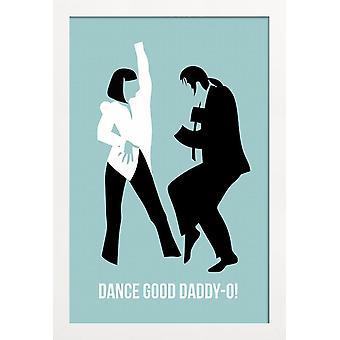 JUNIQE Print - Dance Good Poster 1 - Filmaffisch i blått & svart