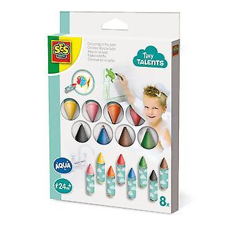 SES CREATIVE Lasten pienet lahjakkuudet Vesiväritys kylvyssä, 8 vesiväriä setti
