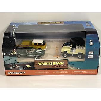 Waikiki Beach Summer Bash 6 Pcs Dioramas 1:64 Échelle Greenlight 58050