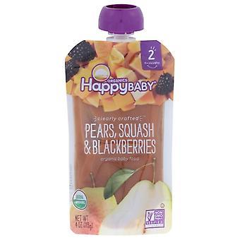 Happy Baby S2 Pear Sqsh Blkbry Org, Case of 16 X 4 Oz