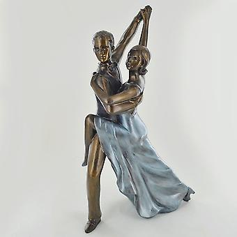 Rumba Kallgjuten Bronsskulptur