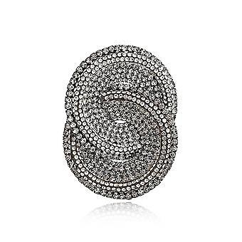 Brosche Pin übertriebene Geometrie Corsage voller Diamant Legierung Damen Brosche