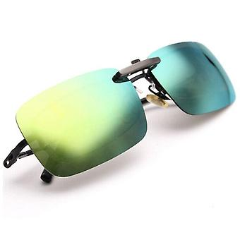 Polarized Day Night Vision Clip-on Flip-up Lens Sunglasses