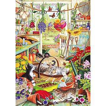 Otter House Allotment Kittens Jigsaw Puzzle (500 XL Pieces)