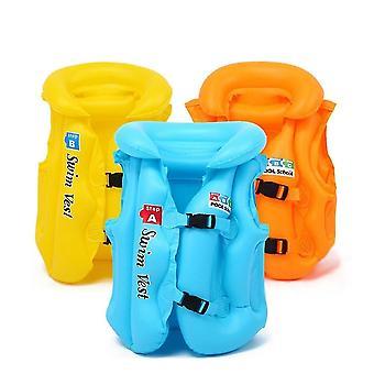 Børn flyder oppustelige svømme vest solid farve redningsvest svømning støtte læring flåd