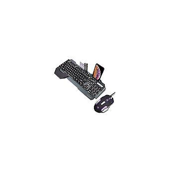 618 Waterproof Mechanical White Backlit Multi Shortcuts Gaming Keyboard 3200 DPI Optical Mouse Set