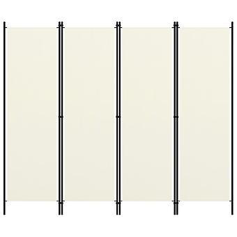 vidaXL 4 kpl. Huoneenjakaja kerma valkoinen 200x180 cm