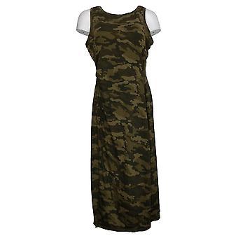 zuda Dress Z-Cool Regular Printed Knit Midi Camo Olive Green A377787
