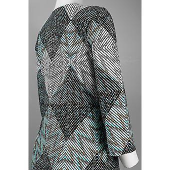 Abstraktes Diamond Pattern Jersey Kleid