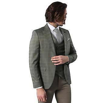 Double breasted green plaid mens suit   wessi