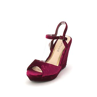 Rampage Womens Crissy 3 Fabric Peep Toe Special Occasion Ankle Strap Sandals