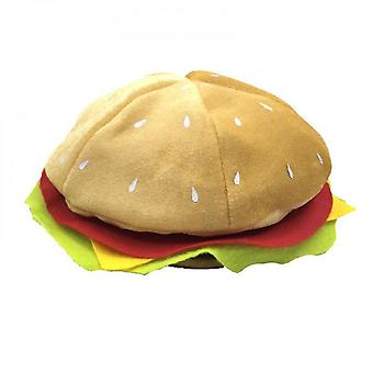 Halloween Christmas Burger Hat Costume Role-playing Hat (28cm)