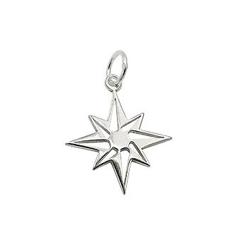Pendant Star Compass Windrose Silver 925 39414 39414 39414