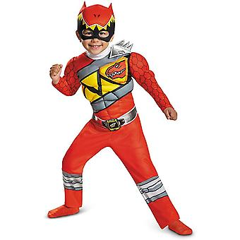 Red Power Dino Charge Drenge Muskel Kostume