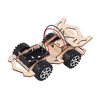 Bricolage fait à la main Voiture électrique en bois Puzzle de voiture pour enfants