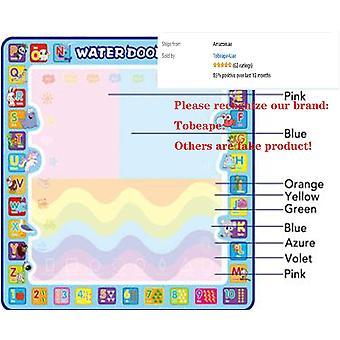 100 X 100 Cm Large Water Doodle Mat, Aqua Doodle Mat Drawing Painting Mat, Educational Arts Toys Colorful Magic Water Doodling Mat, Drawing Toy For 3-
