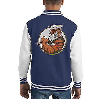 Eye Of The Street Tiger Guile Fighter Kid's Varsity Jacket