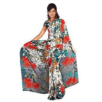 Chhavi Georgette afgedrukt Casual Saree Sari buikdansen stof