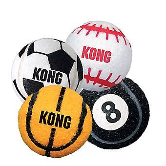 Kong Sports Balls Assort 3pk Sm