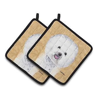 Carolines Treasures  SC9135PTHD Bichon Frise Wipe your Paws Pair of Pot Holders