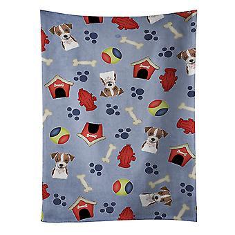 Собака дом коллекции Джек Рассел терьер кухонное полотенце