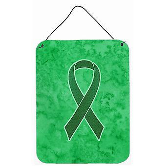 Fita de Kelly verde para parede de conscientização de câncer renal ou porta-impressões de suspensão