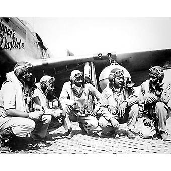 Tuskegee Airmen 332nd Fighter Group Ramitelli Italy WWII Poster Print by McMahan Photo Archive (10 x 8)