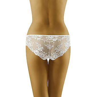 Wolbar Women's Lola White Lace Knickers Panty Full Brief