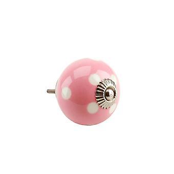 CGB Giftware Pink Polka Dot Ceramic Drawer Handle