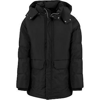 Urban classics - LONG HEAVY winter jacket black