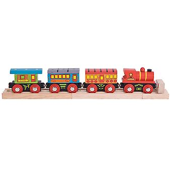 Bigjigs Rail Wooden Passenger Train Engine Locomotive Carriage Railway