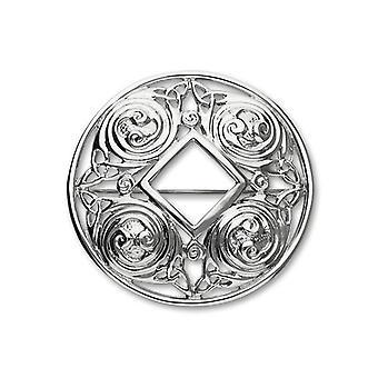 Sterling Silver tradiționale Celtic Eternity de design de proiectare broșă-B310