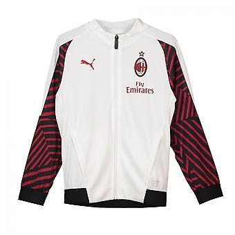2018-2019 Милан Puma стадион подготовки куртка (белый) - дети