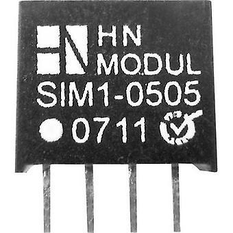 HN Power SIM1-1503-SIL4 DC/DC Converter (Print) 19 V DC 3 V DC 300 mA 1 W Nee. aantal uitgangen: 1 x