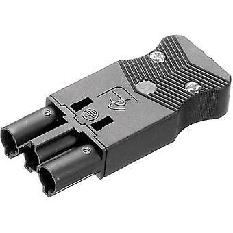Adels-Contact AC 166 GSTPF/ 3 Mains connector AC Series (mains connectors) AC Plug, straight Total number of pins: 2 + PE 16 A Black 1 pc(s)