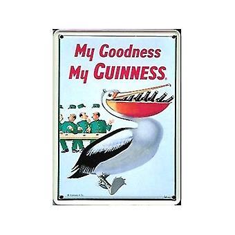 Guinness Pelican Metal Postcard / Mini Sign