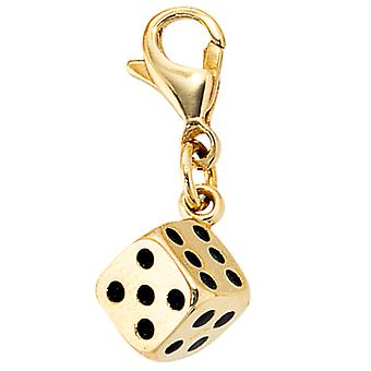 Single earrings-333 /-g-cube charms gold charm gold pendant cube gold