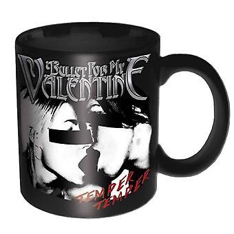 Bullet For My Valentine Mug Temper Temper Band Logo new Official Black Boxed