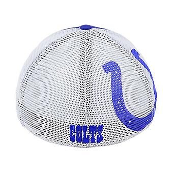 Indianapolis Colts NFL 47 Brand Mesh Closer Stretch Fitted Hat