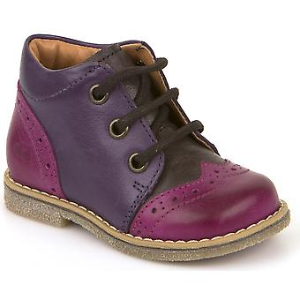 Froddo Girls G2130150-1 Lace Boots Purple Pink