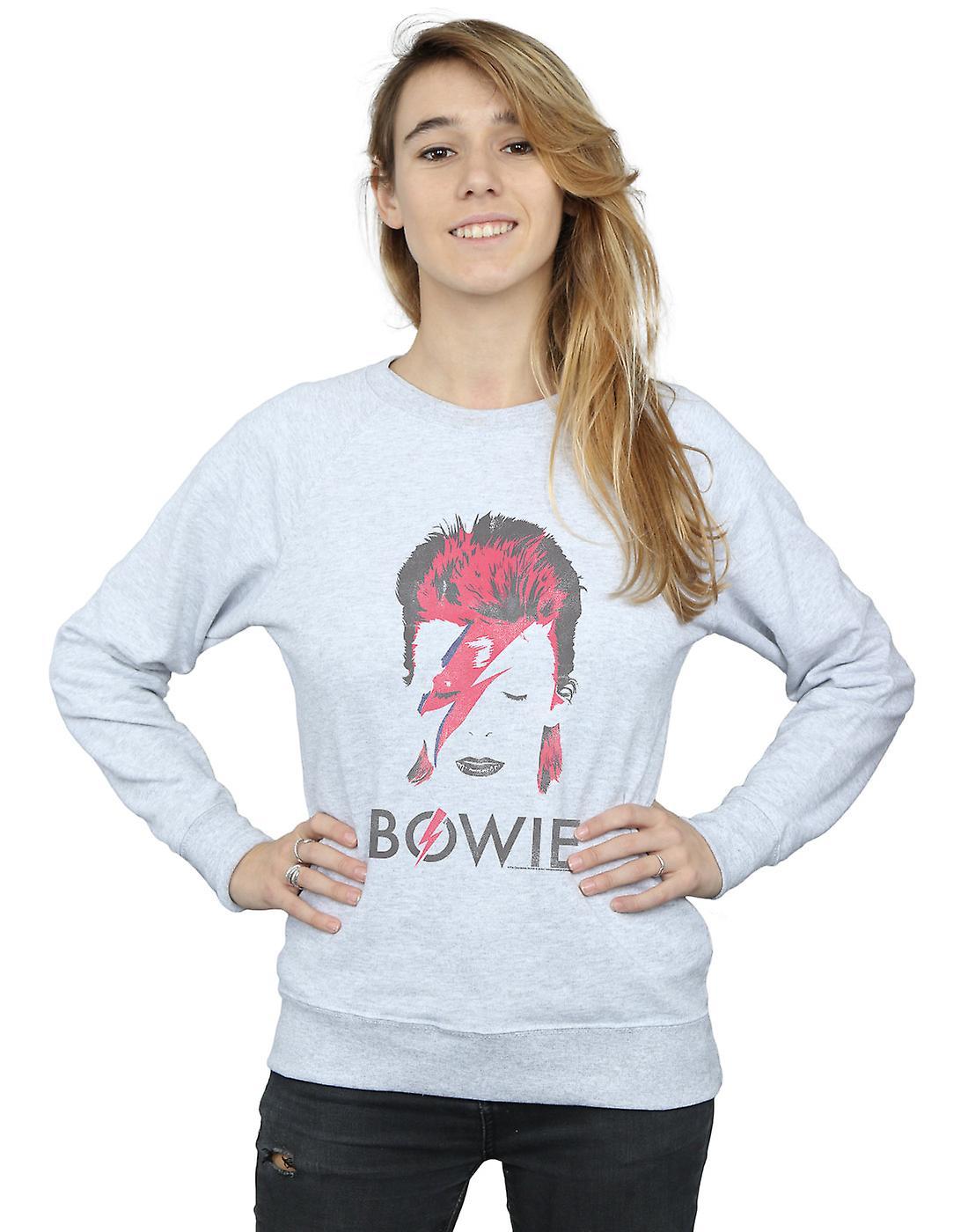 David Bowie Women's Aladdin Sane Distressed Sweatshirt