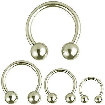 Cirkulær Barbell Horseshoe Piercing, krop smykker, tykkelse 4,0 mm | Diameter 10-22 mm