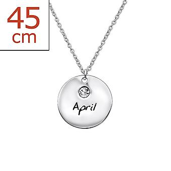 April Birthstone - 925 Sterling Silver Jewelled Necklaces - W30217x
