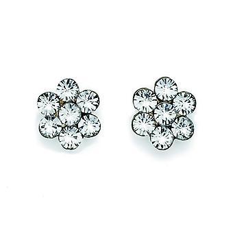 Oliver Weber Post Earring Flower Rhodium Crystal