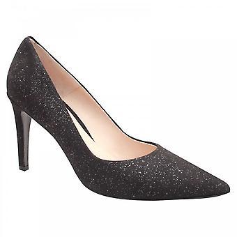 Perlato Shimmering Suede High Heel Court Shoe